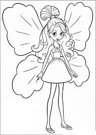 Barbie Coloring Pages For Girls Doll Printable
