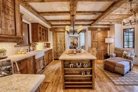Rustic Kitchen Lighting Ideas by Large Solid Wood Countertops Island Rustic Drawers Corner Small