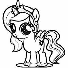 My Little Pony Coloring Pages Princess Luna Filly Free