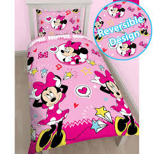 Minnie Mouse Queen Bedding by Girls Rotary Reversible Duvet Sets Disney Frozen Princess Minnie