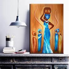 großhandel zz700 moderne abstrakte porträt leinwand kunst abstrakte afrikanische frauen öl kunst malerei auf leinwand wandbilder für wohnzimmer wand