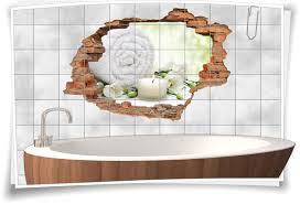 badezimmer wellness fliesen bild er bad weiß grün fliesen aufkleber 3d fliesen wand durchbruch balance meditation entspannung