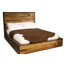 Urban Rustic Barnwood Platform Bed