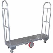 Amazon.com: Heavy Duty, Narrow Aisle U-boat Platform Truck Dolly ... Platform Truck Single Bar End Vestil Alinum Trucks 30 In X 60 Stainless Steel Trucksspt3060 Little Giant Hand Collapsible For Rough Terrain Bodies Carco Industries Turntable Rubbermaid Commercial Products With 8 Roughneck More 170kg And 300kg Free Uk Delivery R Us Treadplate 24 48