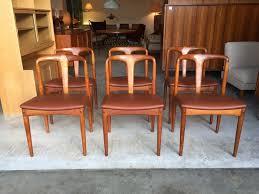 60er teak chairs j andersen esszimmer stühle garnitur