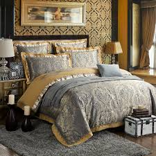 Noble Excellence Bedding by Zangge Bedding Luxury Satin Jacquard Paisley Bedding Sets Include