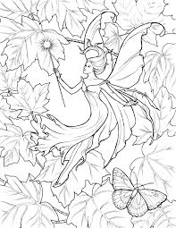 Fairy Art Fantasy Coloring Pages Free Page Barbie To Print Tale Tinkerbell Fairies Full Size