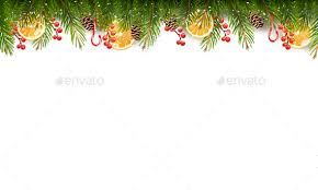 Holiday Background With A Christmas Tree Branches