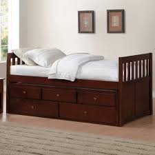 Rowe Sleeper Sofa Mattress by Rowe Dark Cherry Twin Twin Trundle Bed With Two Storage Drawers