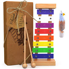 100 Home Made Xylophone AGreatLife Wooden For Kids Includes Eagle Whistle