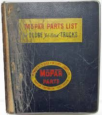 100 1953 Dodge Truck Parts 19471955 MoPar List For S CSeries Power