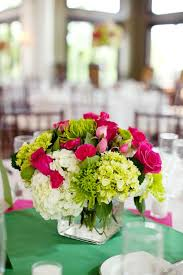 Hot Pink And Lime Green For Your Spring Wedding Centerpieces