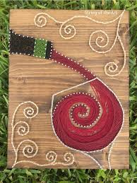 String Art Crafts Kit Red Wine Decor Project Handmade DIY