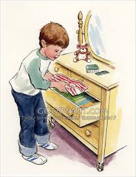 Put Clothes In Drawer Clipart 1