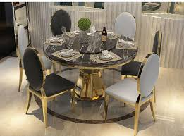 Golden Round Marble Top Dining Table With Luxury Chairs Cm3556 Round Top Solid Wood With Mirror Ding Table Set Espresso Homy Living Merced Natural Wood Finish 5 Piece East West Fniture Antique Pedestal Plainville Microfiber Seat Chairs Charrell Homey Design Hd8089 5pc Brnan Single Barzini And Black Leatherette Chair Coaster 105061 Circular Room At Hotel Hershey Herbaugesacorg Brera Round Ding Table Nottingham Rustic Solid Paula Deen Home W 4 Splat Back Modern And Cozy Elegant Sets
