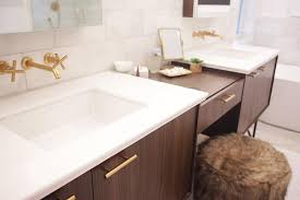 Kohler Purist Widespread Lavatory Faucet by Brushed Gold Faucet Contemporary Bathroom Madison Taylor Design