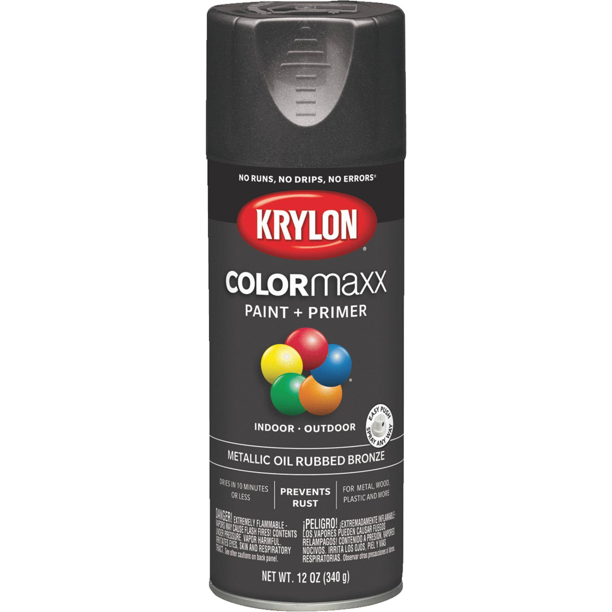Krylon K05585007 COLORmaxx Spray Paint, Aerosol, Oil Rubbed Bronze