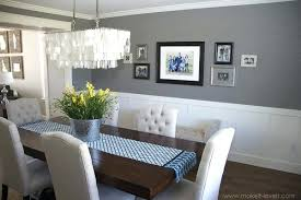 Dining Rooms With Chair Rails Light Gray Room Paint Colors Oak