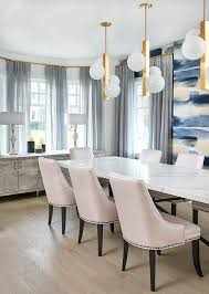 Long Marble Top Dining Table