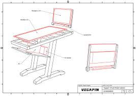 Virtual Pinball Cabinet Flat Pack by Vegapin Unconventional Build 43