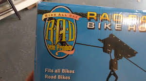 Racor Ceiling Mount Bike Lift Instructions by Rad Easy Hanging Bike Rack Review Youtube