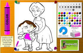 Dora And Mom Coloring Games