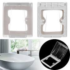 1pc transparent wasserdichte steckdose schutz elektrische stecker abdeckung steckdose splash box sicherheit bad lieferungen