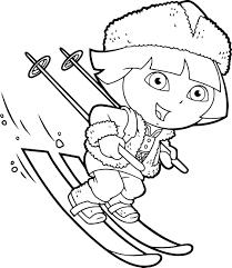Petit Skieur Mignon De Pingouin Illustration De Vecteur