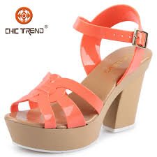 2016 summer crystal jelly sandals high heels elegant pvc shoes