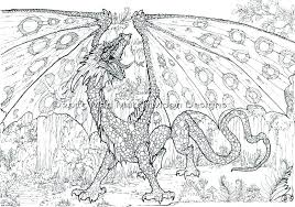 Cool Dragon Coloring Pages Flyg For Adults Difficult