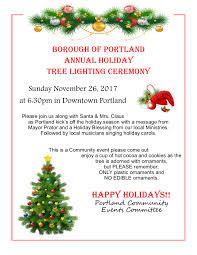 Portland Annual Tree Lighting Nov 26 2017 Borough Of