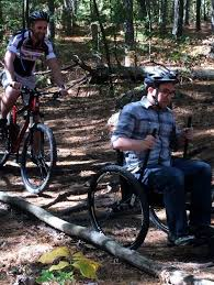 the grit freedom chair offers affordable wheelchair mountain biking