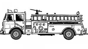 Beautiful Fire Truck Coloring Page For Books Free Printable Pages ...