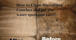 Tada s Kooky Kitchen How to Clean Microfiber Couches AND the water spots out too