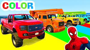 Trucks And COLOR CARS In Spiderman Cartoon Videos And Colors For ... Ambulance Video For Children Kids Truck Fire And Rescue Tow Youtube Alphabet Garbage Learning Vacuum Trucks Color Cars In Spiderman Cartoon Videos Colors Pictures Of For Group 67 Monster Road Roller Excavator