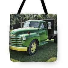 100 Chevy Pickup Trucks For Sale John Deere Green Truck Tote Bag For By Victor Montgomery