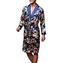 robe de chambre satin homme amazon fr peignoir soie homme
