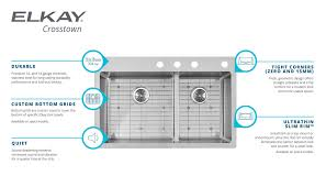 Stainless Steel Utility Sink With Right Drainboard by Crosstown Stainless Steel Kitchen Sinks Elkay