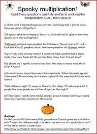 Halloween Multiplication Worksheets 3rd Grade by At The Store Multiplication Word Problems Word Problems