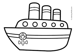 Ship Coloring Page Transportation Pages Steamship For Kids Printable Drawing