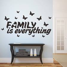 New Home Decor Butterfly Family Is Everything Quote Wall Stickers Adhesive Vinyl Sticker Decoration Diy