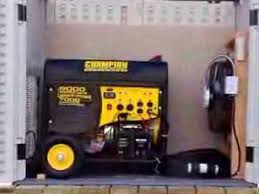 generator shed completed project youtube