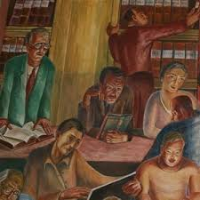Coit Tower Murals Controversy by Coit Tower Zakheim Mural San Francisco Ca Living New Deal