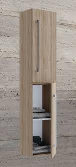 vcm hochschrank badmöbel badschrank badezimmerschrank vcb 6 große drehtür holz badmöbel hochschrank vcb 6 drehtür farbe sonoma eiche sägerau