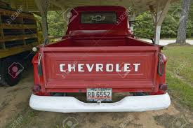 Old Red Chevrolet Truck In A Garage Along Highway 22 In Central ...