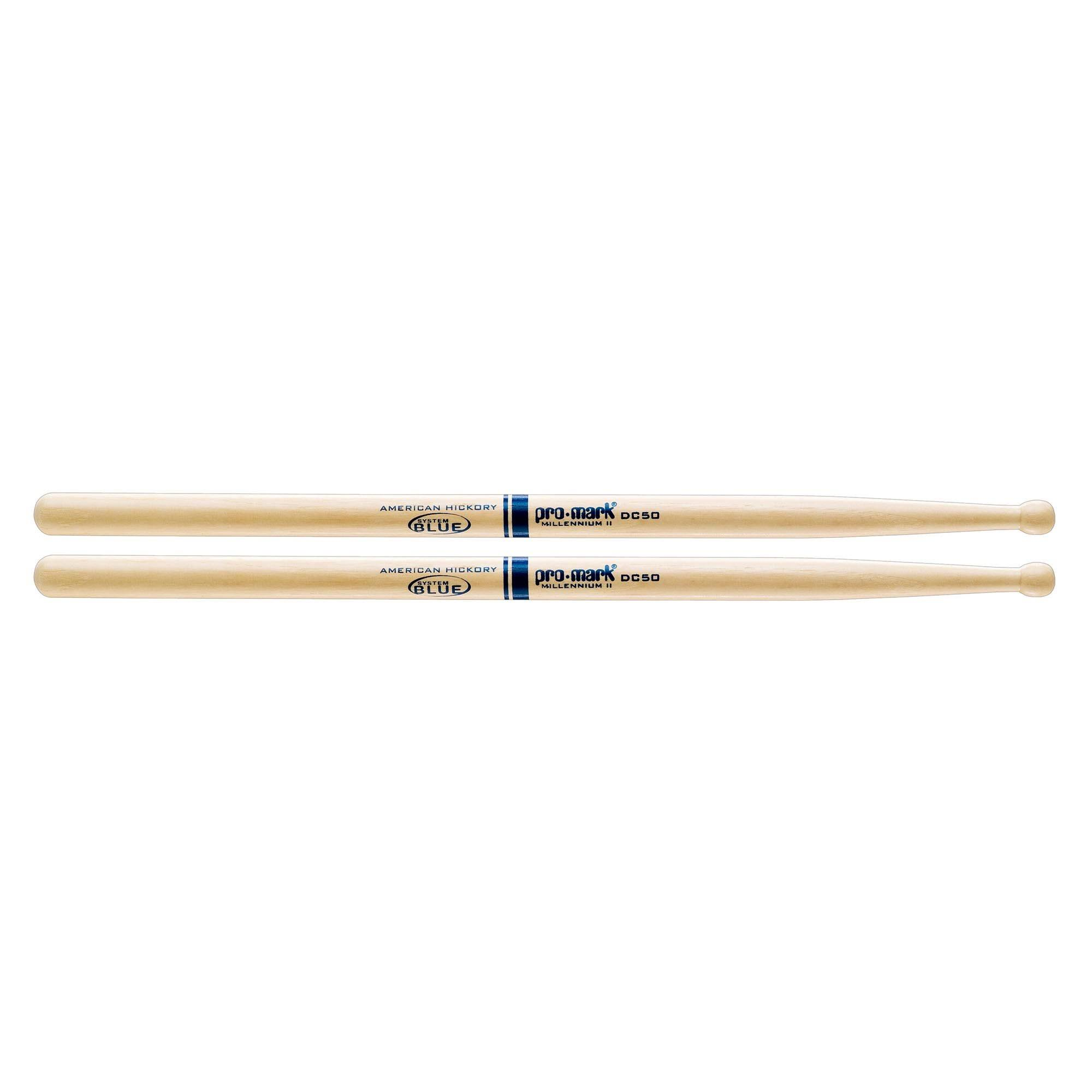ProMark Hickory TXDC50W Wood Tip Marching Drumsticks