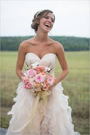 A New Country Chic Wedding Dress Pale Pink Long Ruffles Lace Gown
