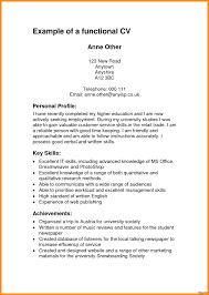 Cv Examples Students Uk Profile Student Personal Format For Example Of 15