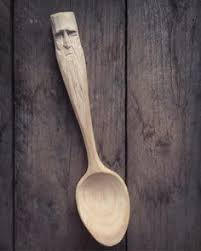 right handed cherry wooden spatula spoon hand carved kitchen