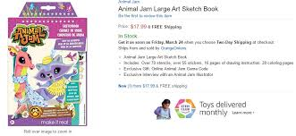 Animal Jam Large Art Sketch Book Includes Over 70 Stencils 55 Stickers 16 Pages Of Drawing Instruction 28 Coloring